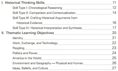 AP US Skills & Objectives